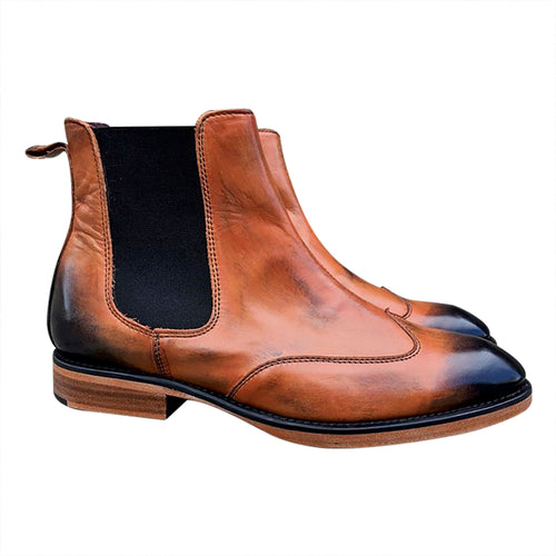 Classic Chelsea brown leather Boots