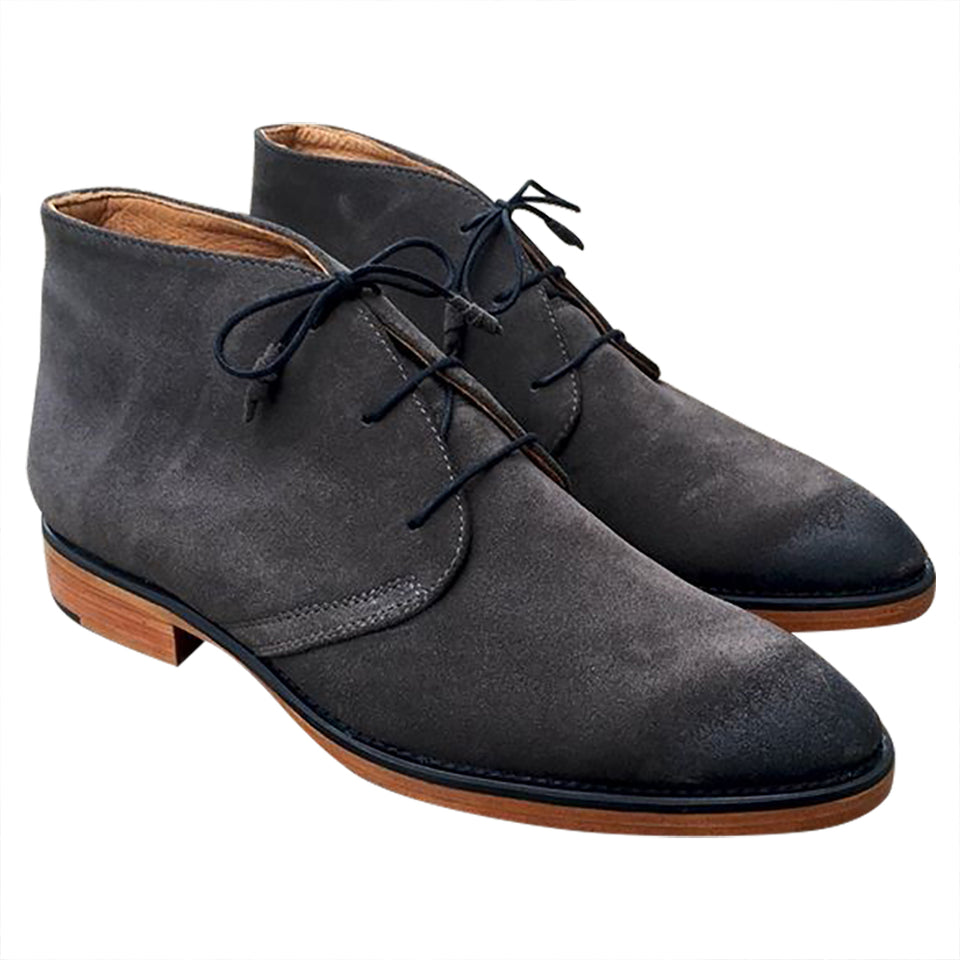 Suede leather hand made Boots for men