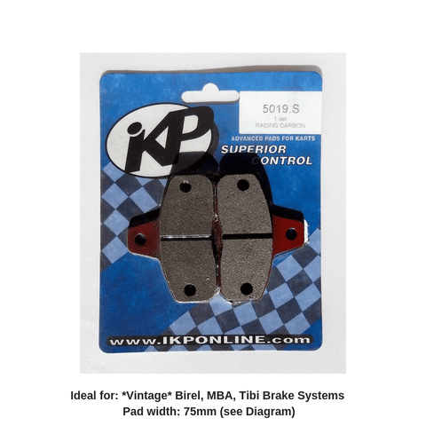 Birel -Front-Brake -Pads -75mm-MBA-Tibi