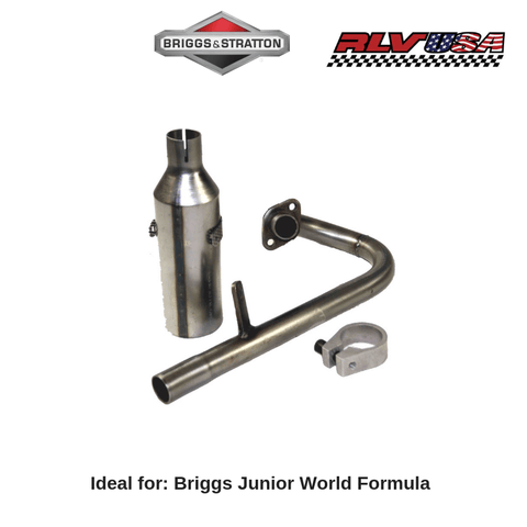 Briggs & Stratton Junior World Formula Exhaust Complete Kit (Left Hand Engine) - Point Karting