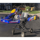 CKR Racing Go Kart on Kart Stand with Sticker Kit
