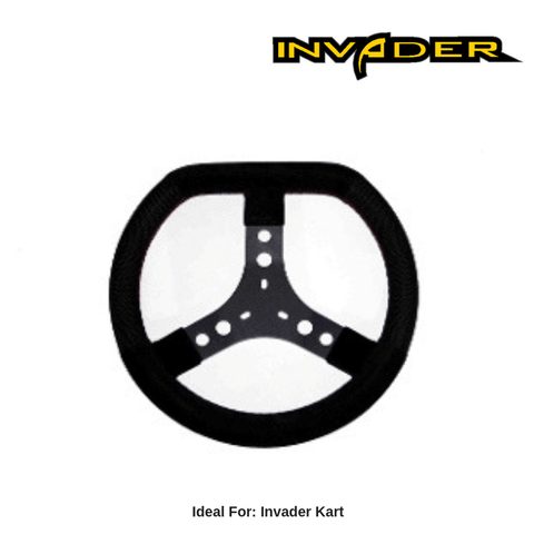 Invader go kart steering wheel