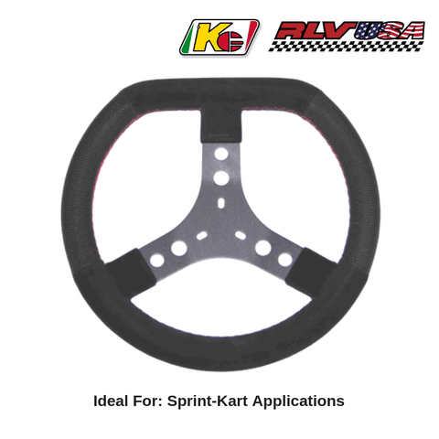 KG Steering Wheel, Black Leather