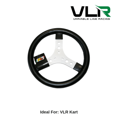 KG Steering Wheel, Round Black