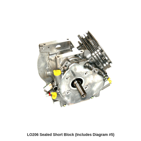LO206 Sealed Short Block