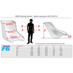 IMAF F6 Racing Kart Seats Sizing Chart
