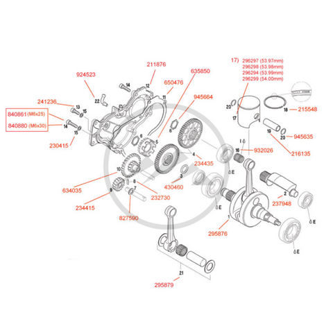 Rotax Max Crankcase Assembly Diagram