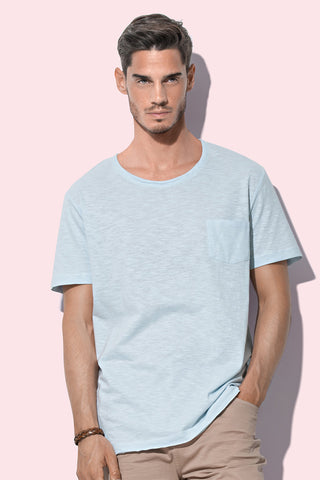 Men's Oversized Slub Crew Neck T-shirt