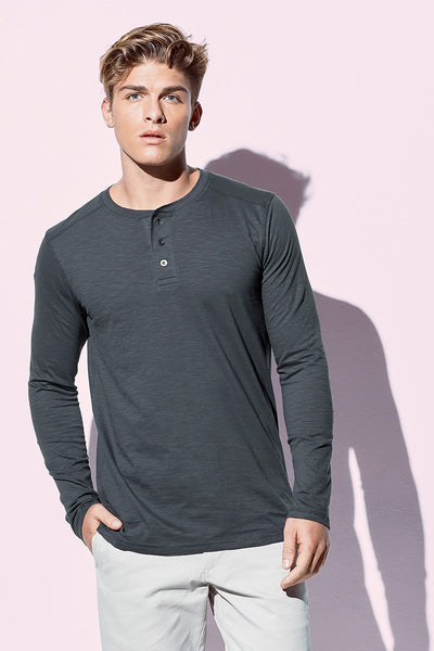 Men's Henley Long Sleeve T-shirt