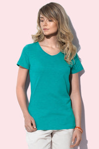 Women's Slub V-Neck T-shirt