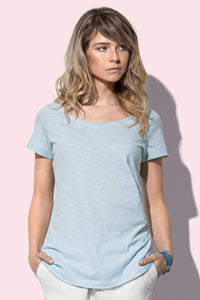Women's Oversized Slub Crew Neck T-shirt