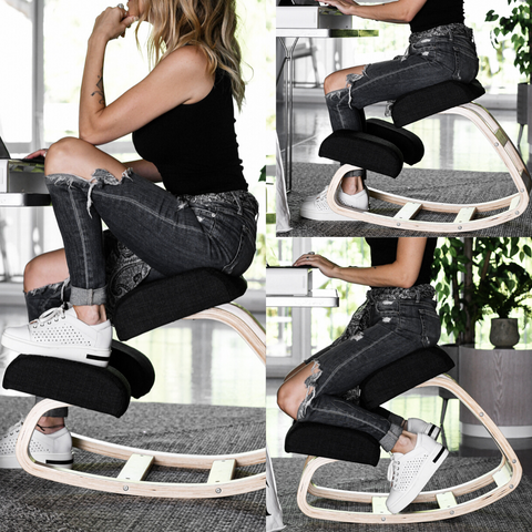 Sleekform Ergonomic Kneeling Chair Best Office Chair For Back Pain Knee Pain Posture Adjustment