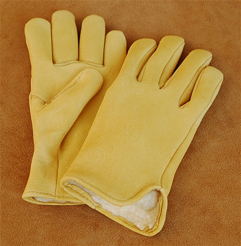Geier Gloves 440 LDP Pile Lined Elkskin Driving Gloves (Made in USA)
