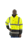 Majestic 75-1303 Hi-Vis  Waterproof Parka Quilted Lining ANSI 3 R