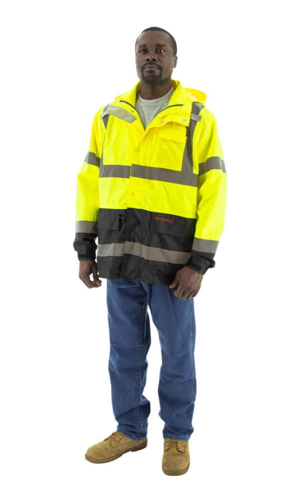Majestic 75-1307 Hi-Vis Waterproof Parka With Multiple Layering Options ANSI 3 R