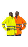 Majestic 75-1351 Hi-Vis Waterproof Rain Jacket ANSI 3 R
