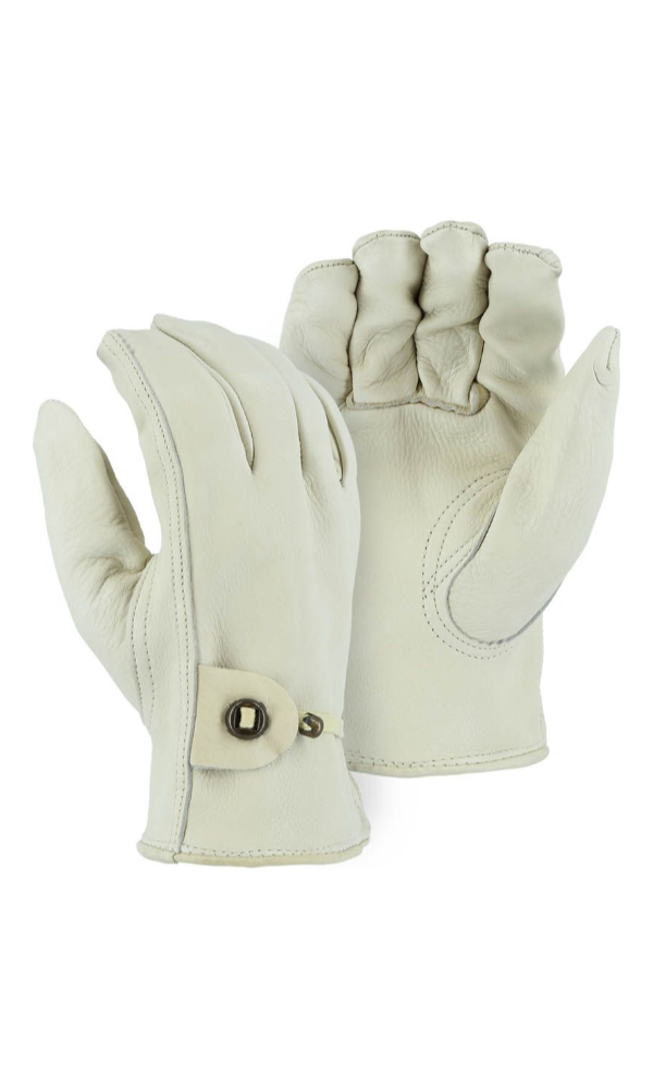 Majestic Gloves 1509K A-Grade Cowhide Leather Gloves with Wrist Strap (Dozen)