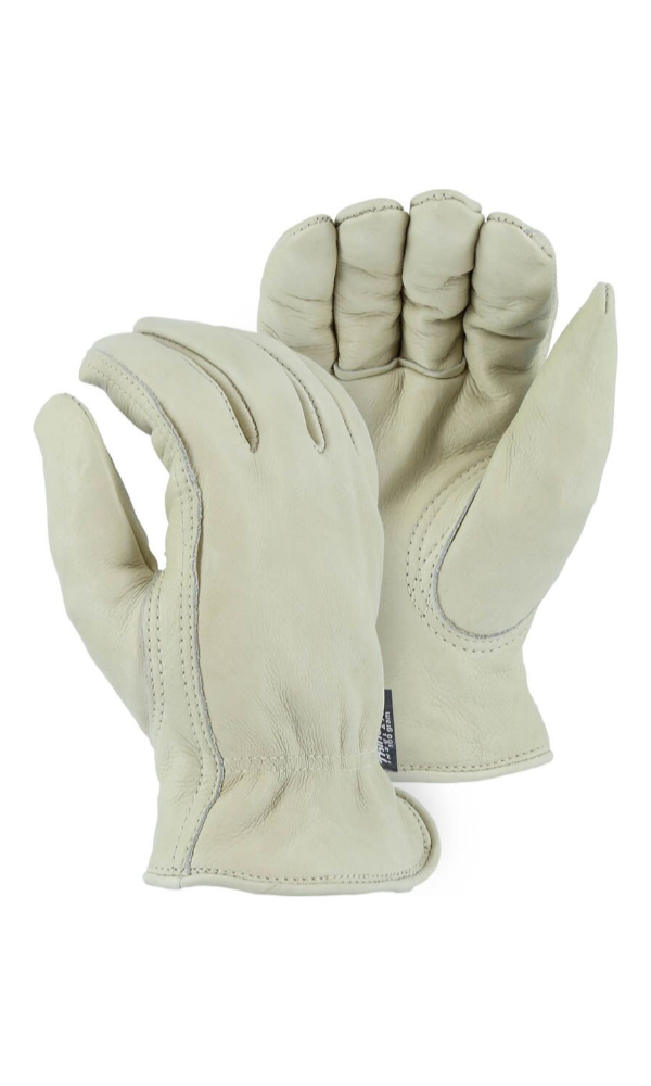 Majestic Gloves 1511T Thinsulate Lined Winter Cowhide Leather Driving Gloves (Dozen)
