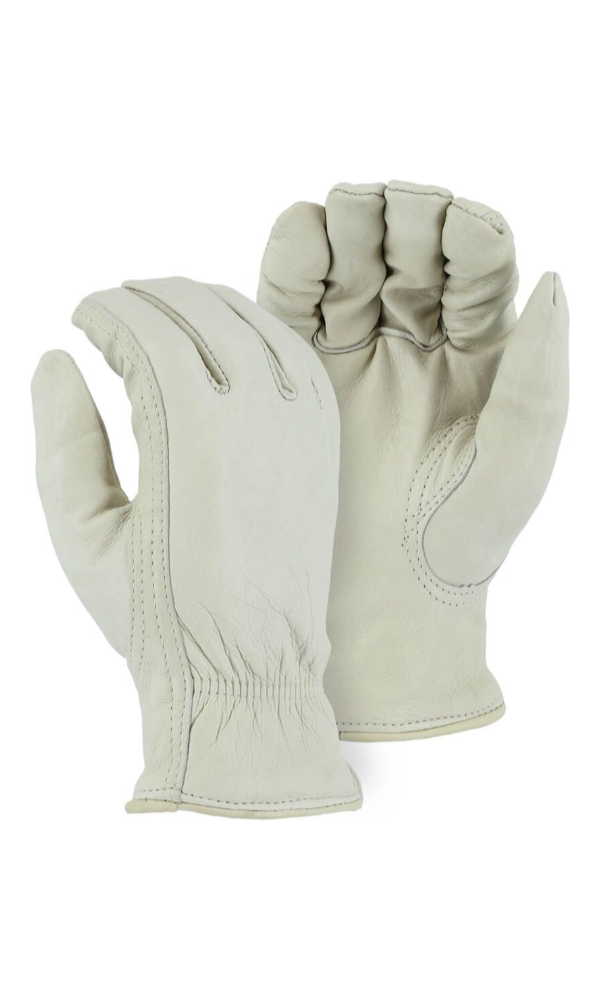 Majestic Gloves 1511 Pile Lined Winter Cowhide Leather Driving Gloves (Dozen)
