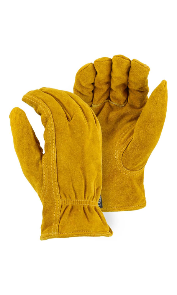 Majestic Gloves 1513T Thinsulate Lined Winter Cowhide Split Leather Driving Gloves (Dozen)