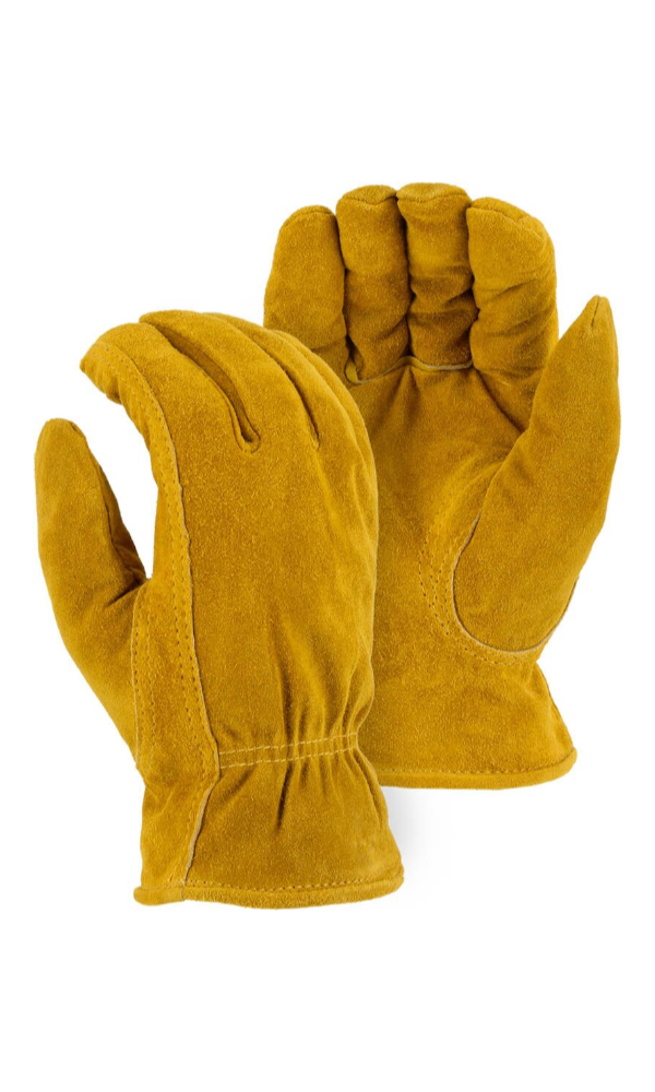Majestic Gloves 1513 Pile Lined Winter Cowhide Split Leather Driving Gloves (Dozen)