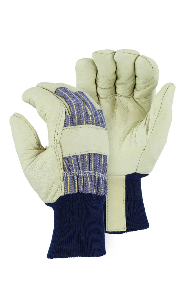 Majestic Gloves 1521 Winter Lined Pigskin Knit Wrist (Dozen)
