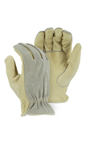 Majestic Gloves 1532 Kevlar Sewn Cowhide Leather Driver Gloves (Dozen)
