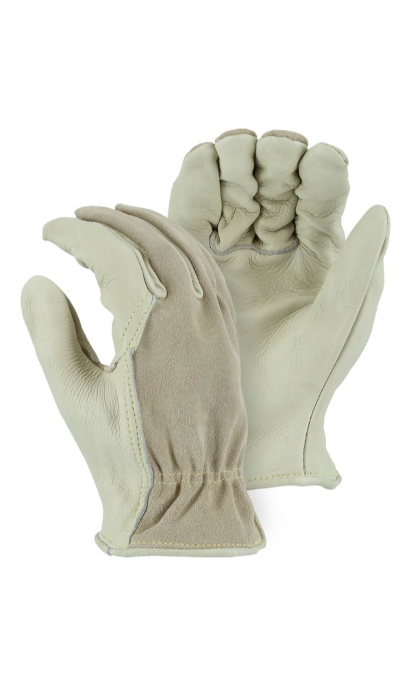 Majestic Gloves 1551 Kevlar Sewn Combination Cowhide Leather Driver Gloves (Dozen)