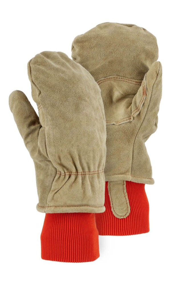 Majestic Gloves 1636 200 Gram Thinsulate Winter Lined Leather Freezer Mitts (Dozen)