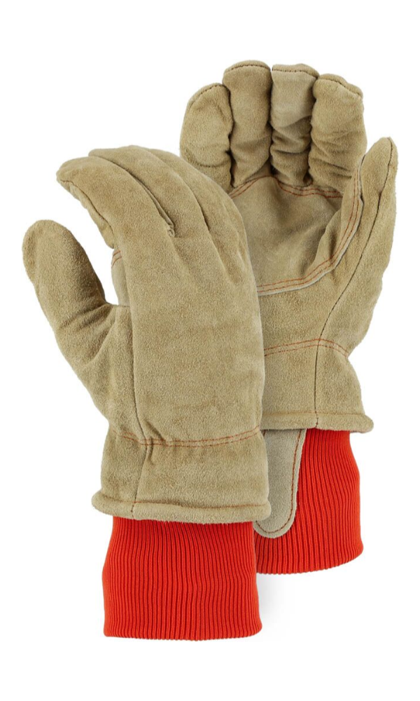 Majestic Gloves 1640 200 Gram Thinsulate Winter Lined Leather Freezer Gloves (Dozen)