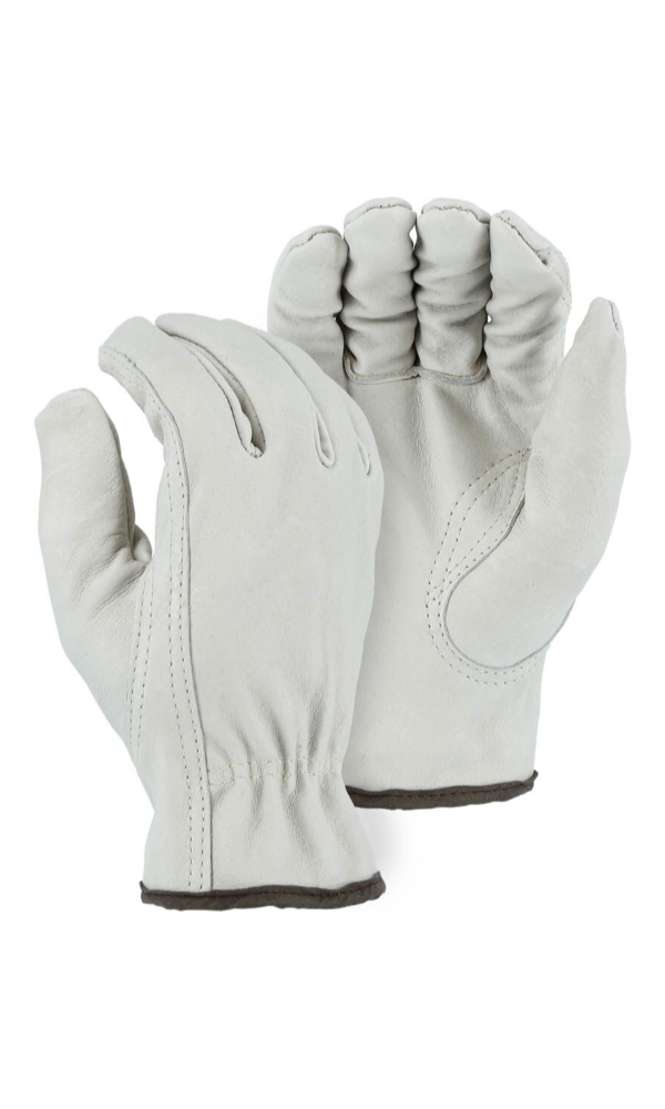 Majestic Gloves 1660 Winter Fleece Lined Goatskin Leather Driving Gloves (Dozen)