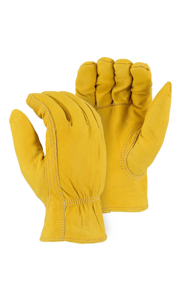 Majestic Gloves 1662 Fleece Winter Lined Elkskin Leather Driver Gloves (Dozen)