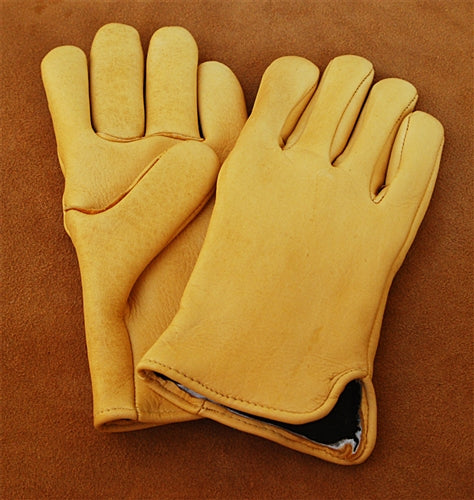 Geier Gloves 440 LDI Thinsulate Lined Elkskin Gloves (Made In USA)