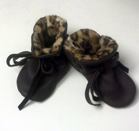 Geier Gloves Baby Moccs Cheetah Print (Made In USA)