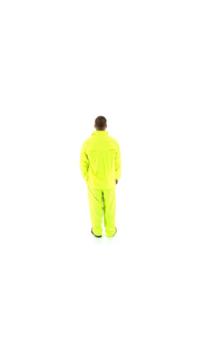 Majestic 71-2040 2-Piece Hooded Yellow Rain Suit