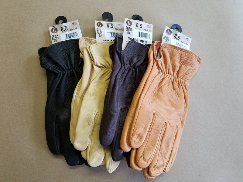 Geier Gloves 204ES Deerskin Leather Driving Gloves (Made In USA)