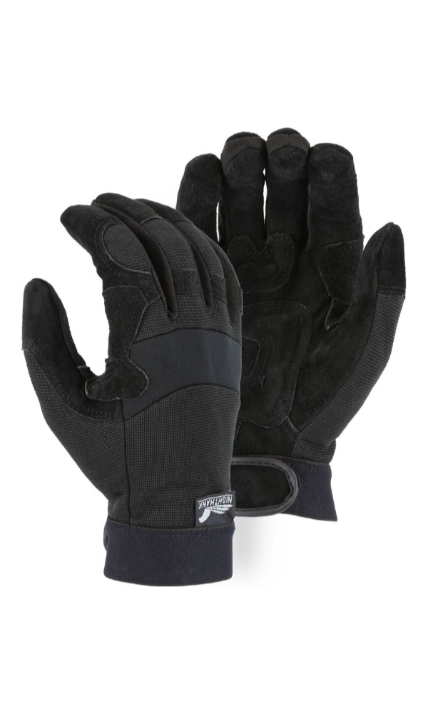 Majestic Gloves 2120 Night Hawk Padded Cowhide Palm Gloves (Dozen)