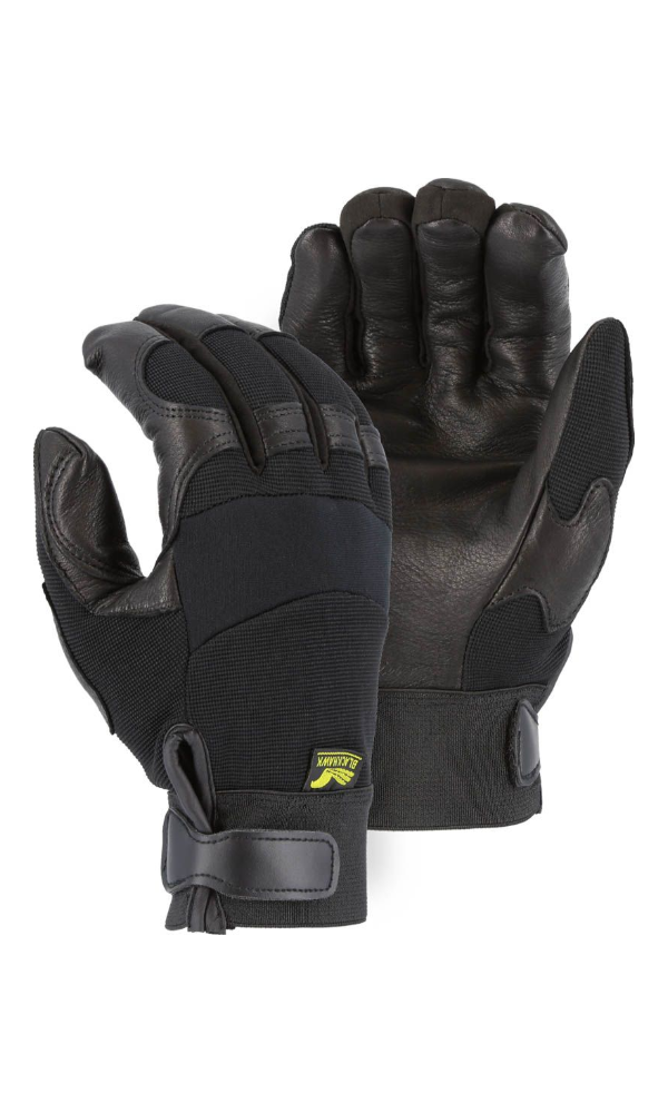 Majestic Gloves 2151H Deerskin Winter Lined Black Hawk Gloves