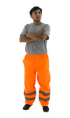 Majestic 75-2352 Hi-Vis Orange Waterproof Rain Pants ANSI E