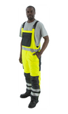 Majestic 75-2357 Hi-Vis Yellow Bib Overall Waterproof Quilted Insulation Class E