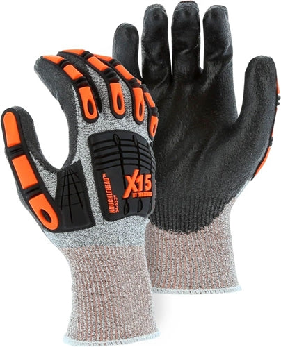 Majestic Gloves 34-5337 Cut Level 5 Cut-less X-15 Dyneema Cut Resistant Impact Resistant [Dozen]