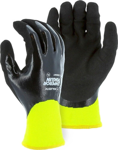Majestic Gloves 3398DNY Emperor Penguin Winter Knit Waterproof Nitrile Dipped (Dozen)