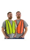 Majestic 75-3004 Orange Site Safety Vest Mesh Non ANSI (50 Vests)