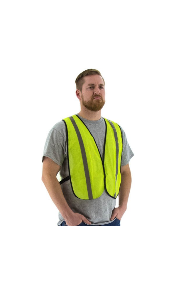 Majestic 75-3003 Yellow Site Safety Vest Mesh Non ANSI (50 Vests)