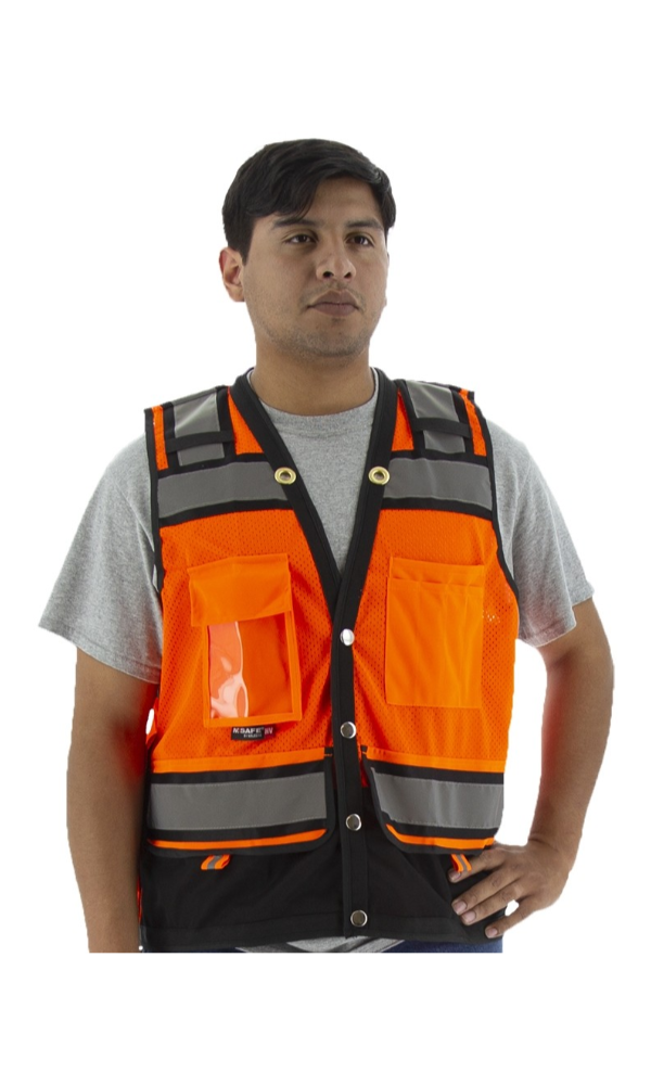 Majestic 75-3238 Hi-Vis Heavy Duty Surveyor's Vest ANSI 2 R