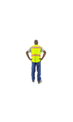 Majestic 75-3239 Hi-Vis Vest DOT Chainsaw Striping ANSI 2 R