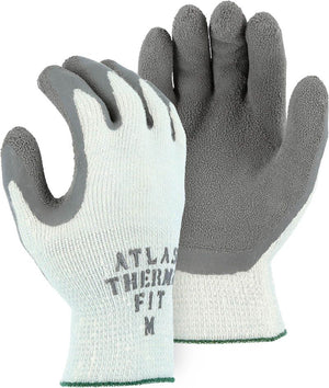 Majestic Gloves 3388 Winter Lined Crinkle Rubber Coated Palm Thermal Glove (Dozen)