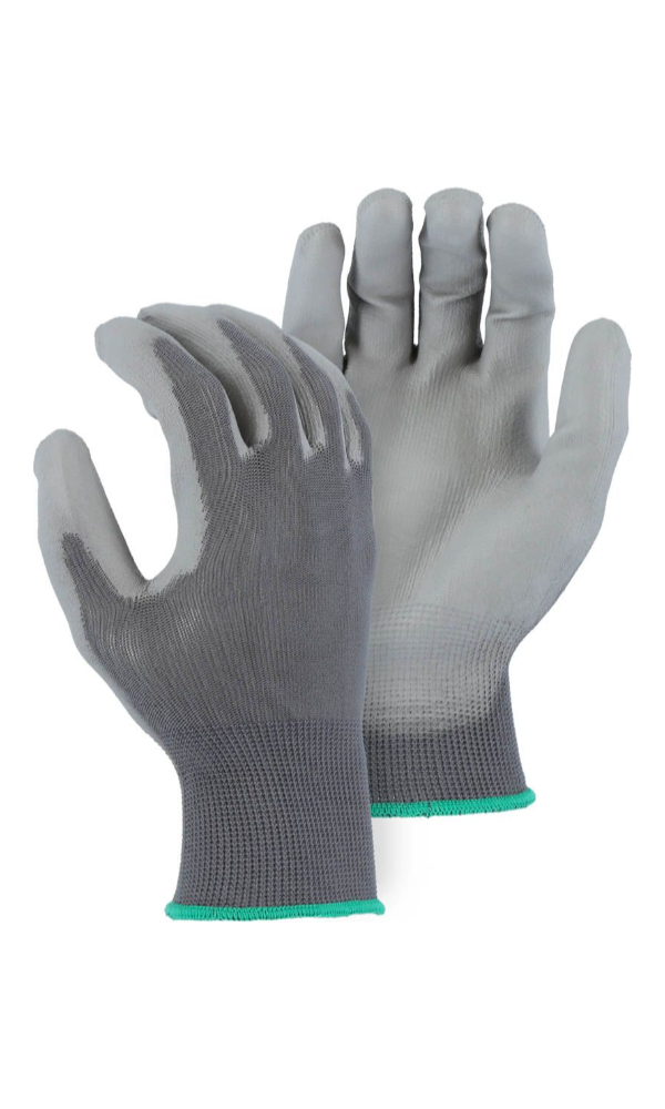 Majestic Gloves 3434A Polyurethane Coated Palm Knit Polyester Gloves (Dozen)