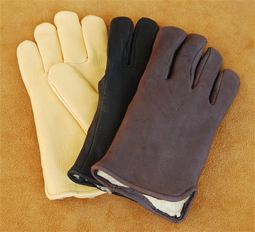 Geier Gloves 200 LDP Pile Lined Deerskin Driving Gloves (Made in USA)