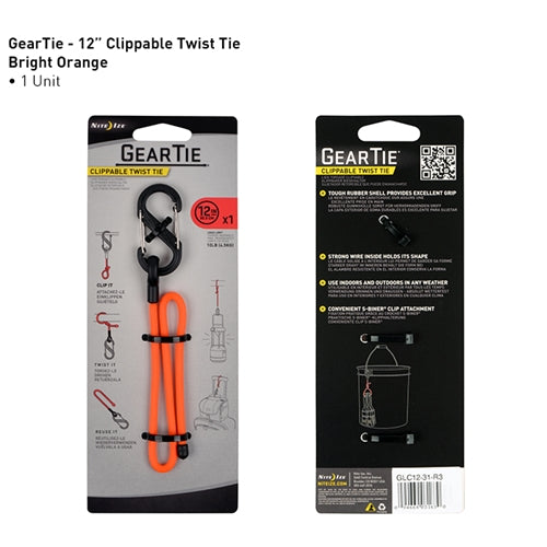"Nite Ize Gear 12"" Clippable Twist Tie"
